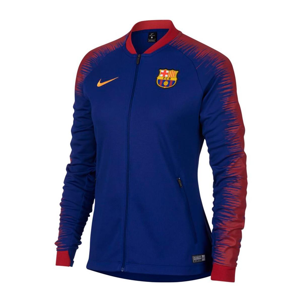 san francisco 699bf 44789 Chaqueta FC Barcelona Pre-Match 2018-2019 Mujer Deep royal blue-University  gold