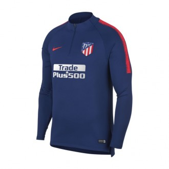 Sudadera  Nike Atlético de Madrid Dry Squad 2018-2019 Deep royal blue-Bright crimson