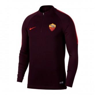Sudadera  Nike AS Roma Dry Squad 2018-2019 Burgundy-Habanero red