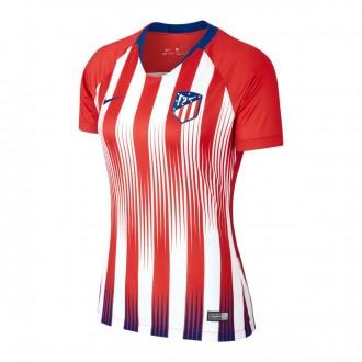 Camiseta  Nike Atlético de Madrid Stadium Primera Equipación 2018-2019 Mujer Sport red-White-Deep royal blue