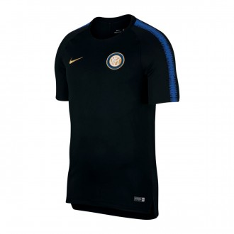 Camiseta  Nike Inter Milán Squad 2018-2019 Black-Game royal-Truly gold