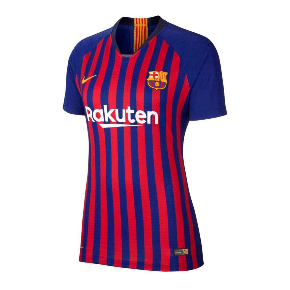 61fc13ddf9ff3 Camiseta Nike FC Barcelona Vapor Primera Equipación 2018-2019 Mujer Deep  royal blue-University gold - Tienda de fútbol Fútbol Emotion