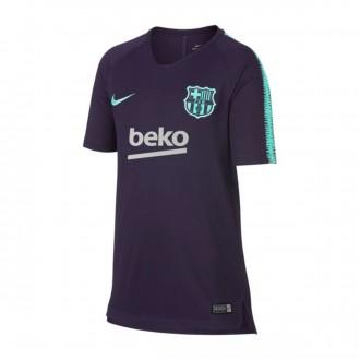 Camiseta  Nike FC Barcelona Squad 2018-2019 Niño Purple dynasty-Hyper turquoise