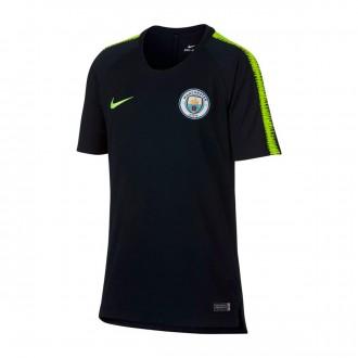 Camisola  Nike Manchester City FC Squad 2018-2019 Crianças Dark obsidian-Volt