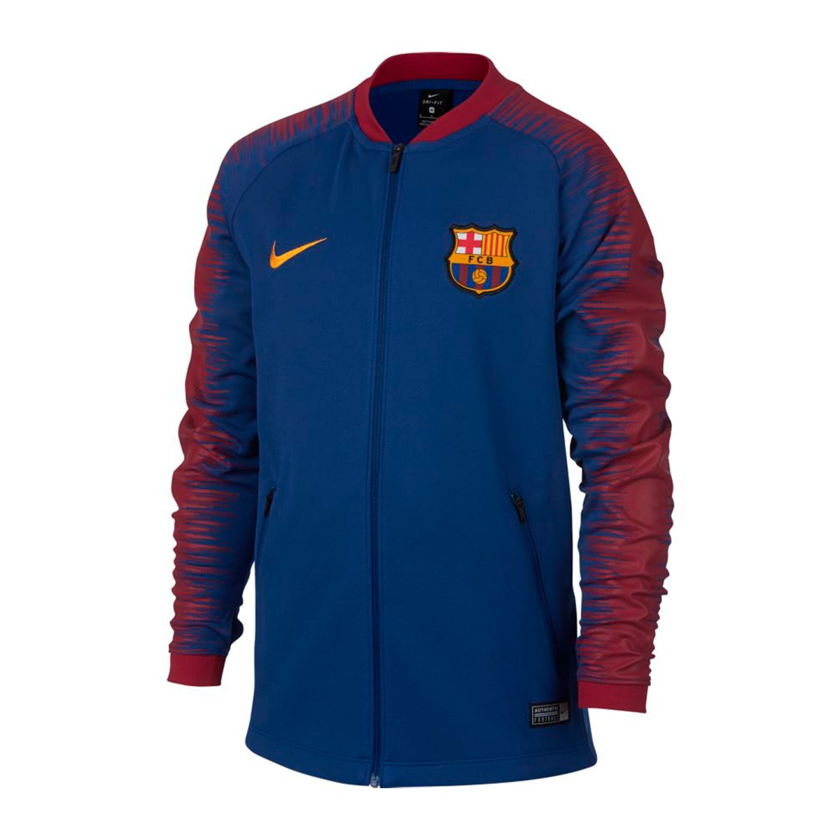 Jacket Nike Kids FC Barcelona Pre-Match 2018-2019 Deep royal blue ... cf3564e700a