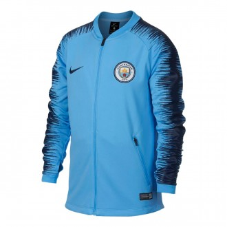 Chaqueta  Nike Manchester City FC Pre-Match 2018-2019 Niño Field blue-Midnight navy