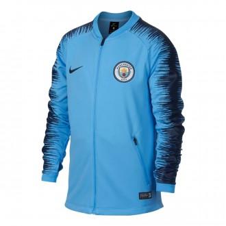 Casaco  Nike Manchester City FC Pre-Match 2018-2019 Crianças Field blue-Midnight navy
