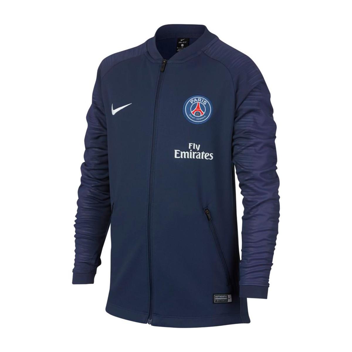 finest selection 33e59 b561d Chaqueta Paris Saint-Germain Pre-Match 2018-2019 Niño Midnight navy-White