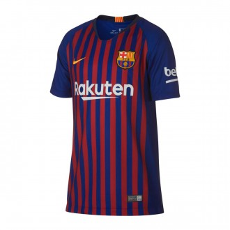 Camiseta  Nike FC Barcelona Stadium Primera Equipación 2018-2019 Niño Deep royal blue-University gold