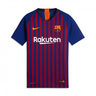 Camiseta  Nike FC Barcelona Vapor Primera Equipación 2018-2019 Niño Deep royal blue-University gold