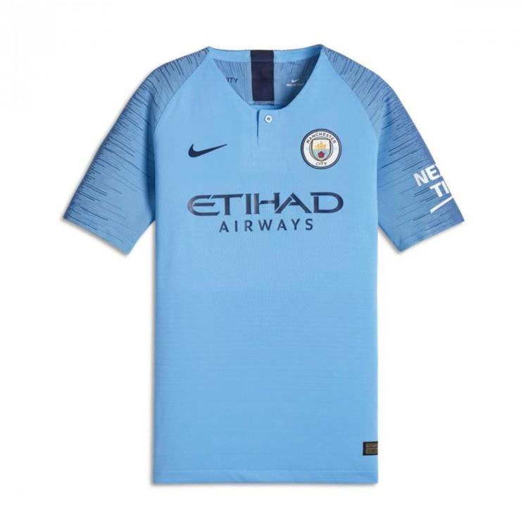 c2d90e3ca92 Jersey Nike Kids Manchester City FC Vapor 2018-2019 Home Field blue ...