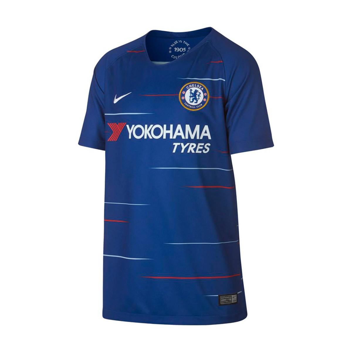Camiseta Nike Chelsea FC Stadium Primera Equipación 2018-2019 Niño Rush  blue-White - Soloporteros es ahora Fútbol Emotion 3ecfdeef67204