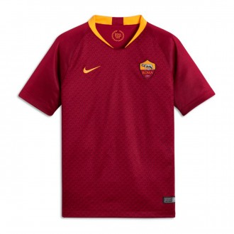 Camiseta  Nike AS Roma Stadium Primera Equipación 2018-2019 Niño Team red-University gold
