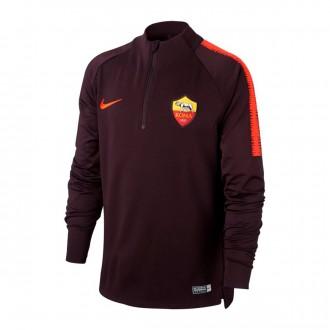 Sudadera  Nike AS Roma Dry Squad 2018-2019 Niño Burgundy-Habanero red