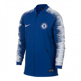 Chaqueta  Nike Chelsea FC Pre-Match 2018-2019 Niño Rush blue-White