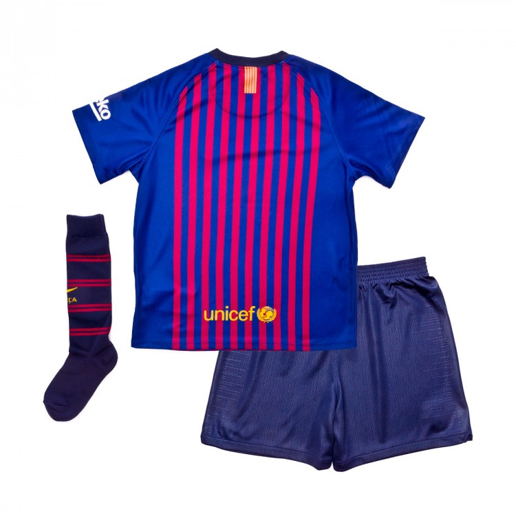 Conjunto Nike FC Barcelona Primera Equipación 2018-2019 Niño Deep ... 587dffa46a991