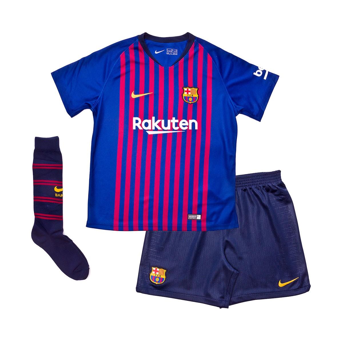 Kit Nike Kids FC Barcelona 2018-2019 Home Deep royal blue-Obsidian ... 63ff738d7d8