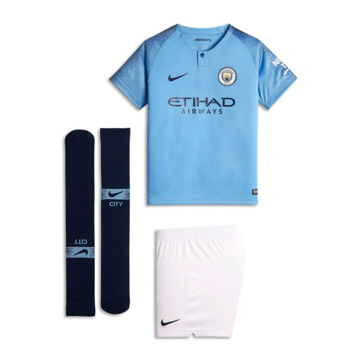 Nike Kids Manchester City FC 2018 2019 Home Kit