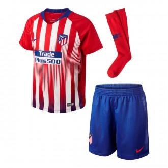 Conjunto  Nike Atlético de Madrid Primera Equipación 2018-2019 Niño Sport red-White-Deep royal blue