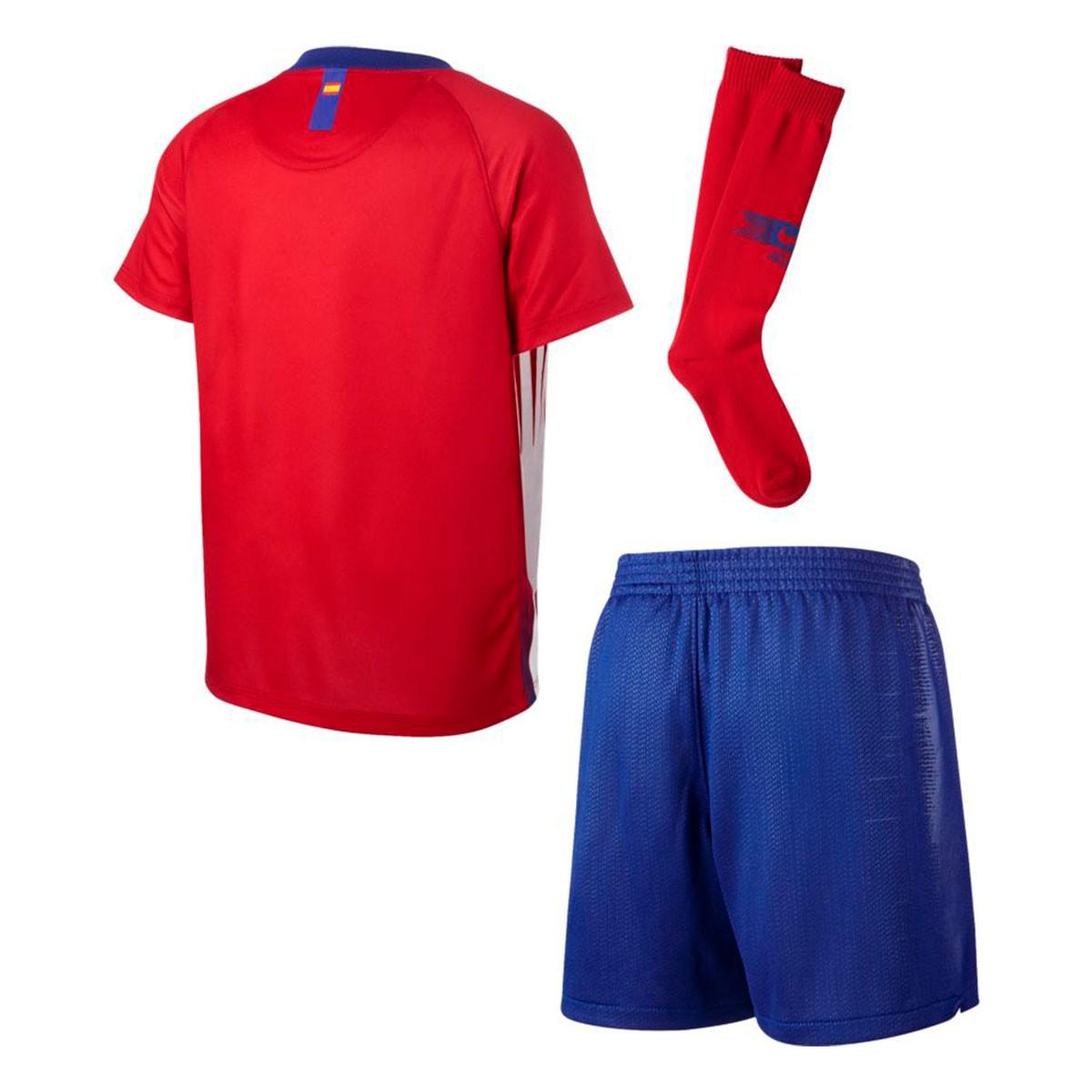f4e21bd27541f Conjunto Nike Atlético de Madrid Primera Equipación 2018-2019 Niño Sport  red-White-Deep royal blue - Tienda de fútbol Fútbol Emotion