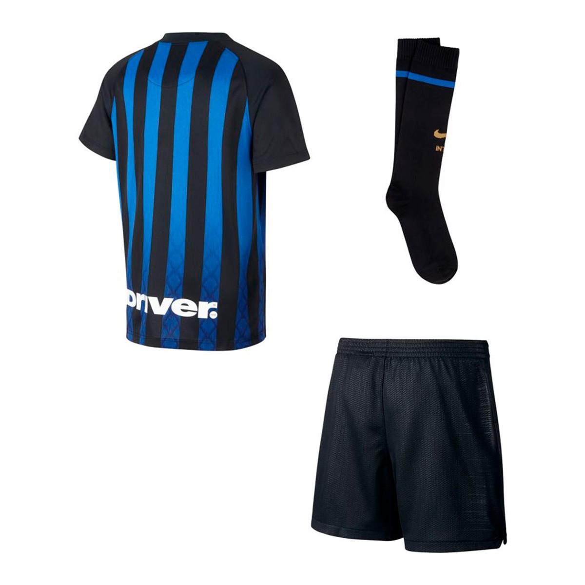 c1a96c3b9c Conjunto Nike Inter Milán Equipamento Principal 2018-2019 Crianças  Black-Truly gold - Loja de futebol Fútbol Emotion