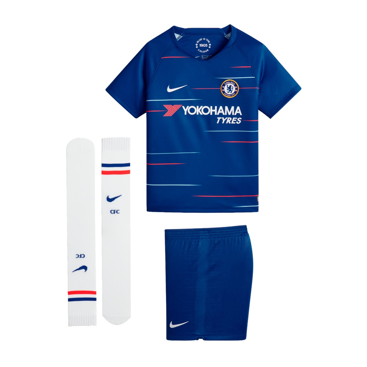 2fb4d4b0771 Kit Nike Kids Chelsea FC 2018-2019 Home Rush blue-White - Football ...