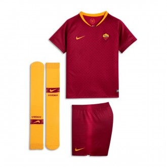 Conjunto  Nike AS Roma Primera Equipación 2018-2019 Niño Team red-University gold