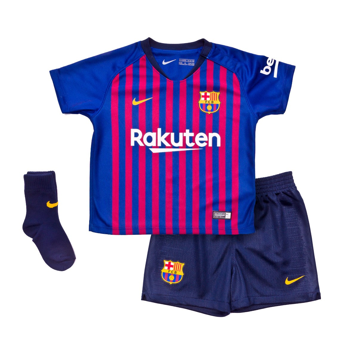 04be39d5490 Nike Infant FC Barcelona 2018-2019 Home Kit. Deep royal blue-Obsidian-University  ...