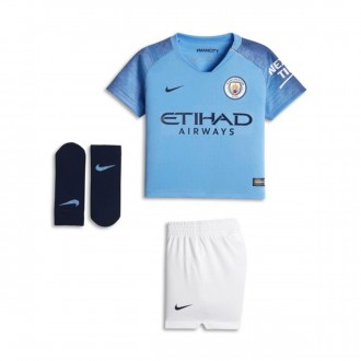 Conjunto  Nike Bebé Manchester City FC Equipamento Principal 2018-2019 Field blue-Midnight navy