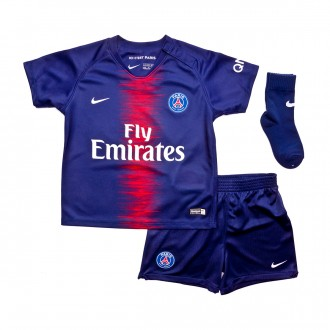 Conjunto  Nike Bebé Paris Saint-Germain Equipamento Principal 2018-2019 Midnight navy-White