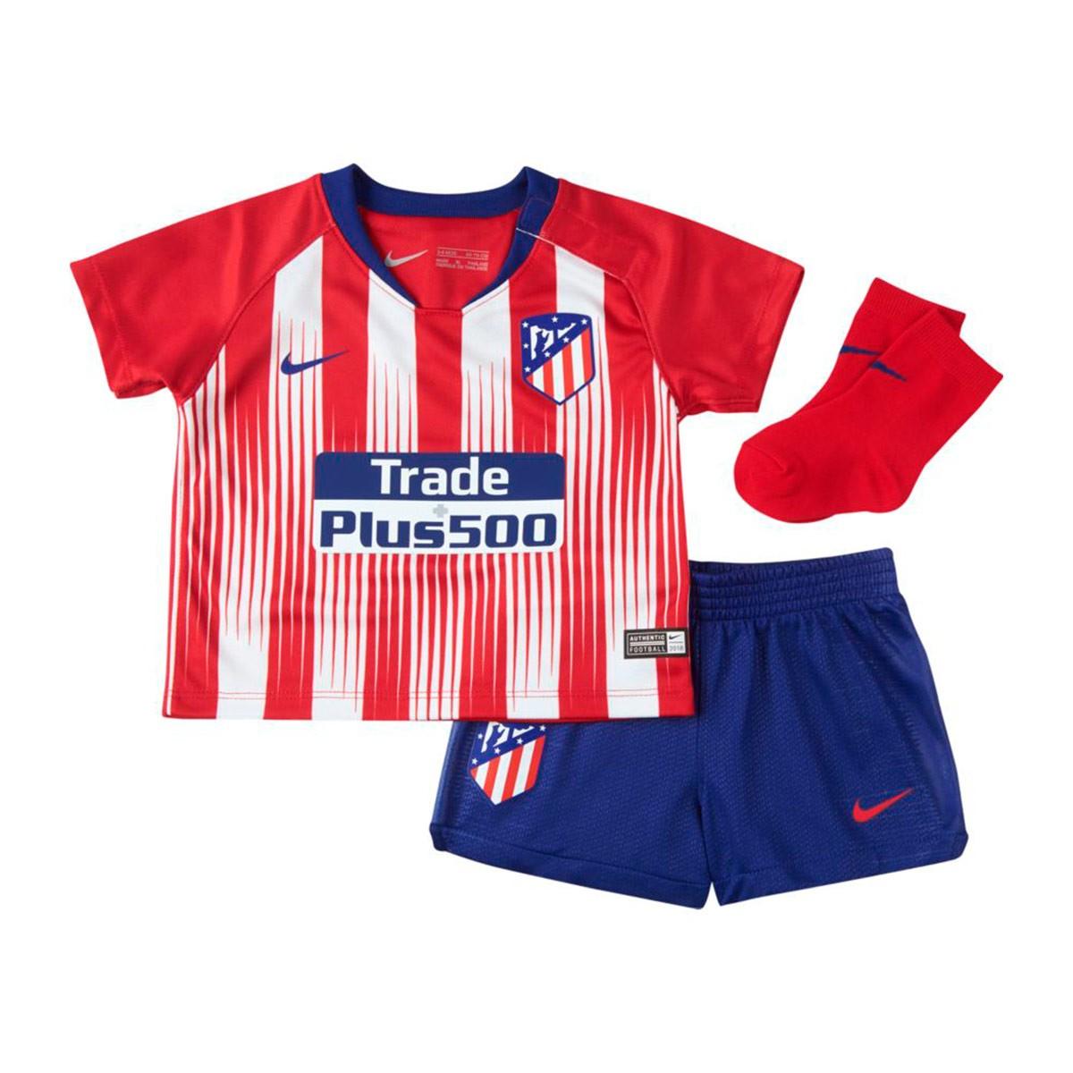 3960ca9c3465d Conjunto Nike Bebé Atlético de Madrid Primera Equipación 2018-2019 Sport  red-White-Deep royal blue - Tienda de fútbol Fútbol Emotion