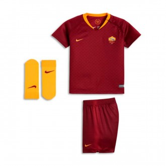 Conjunto  Nike AS Roma Primera Equipación 2018-2019 Bebe Team red-University gold