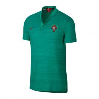 Pólo  Nike Portugal 2018-2019 Kinetic green-Gym red