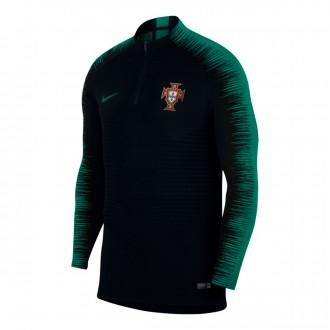Sudadera  Nike Portugal VaporKnit Strike 2018-2019 Black-Kinetic green