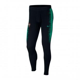 Tracksuit bottoms  Nike Portugal VaporKnit Strike 2018-2019 Black-Kinetic green