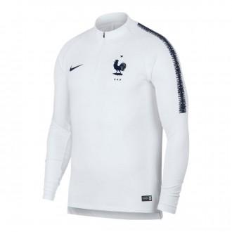 Sudadera  Nike Francia Dry Squad 2018-2019 White-Obsidian