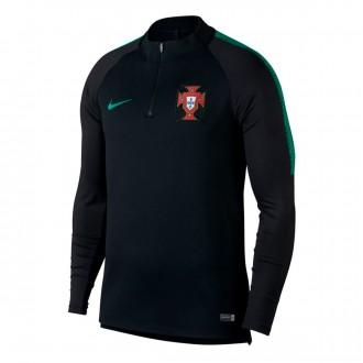 Sudadera  Nike Portugal Dry Squad 2018-2019 Black-Kinetic green