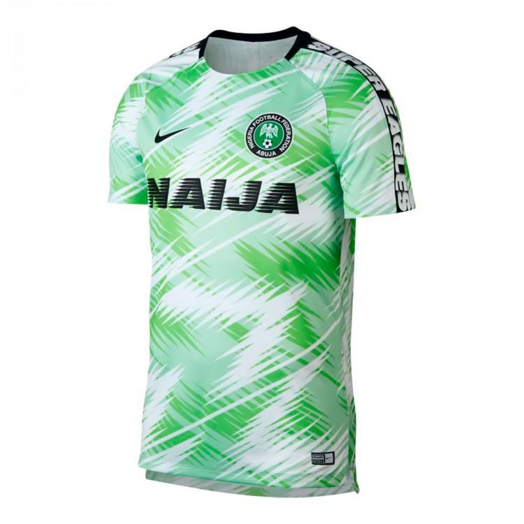 buy online a8735 69cb0 Camiseta Nigeria Dry Squad GX 2018-2019 White-Black