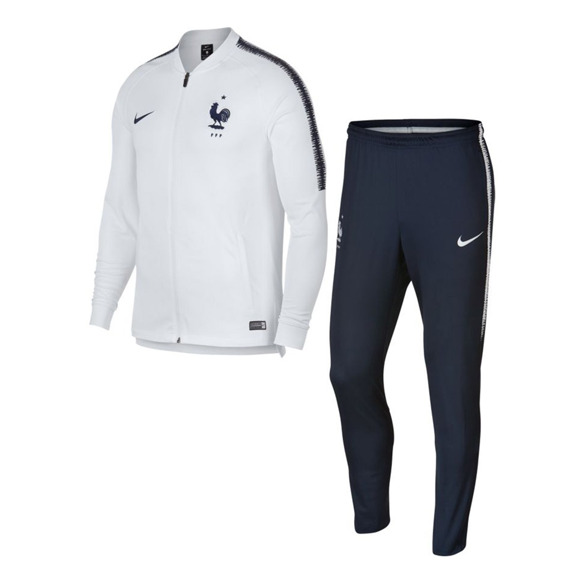 sale retailer c1e1c 5cf21 Survêtement Nike France Dry Squad 2018-2019 White-Obsidian - Boutique de  football Fútbol Emotion