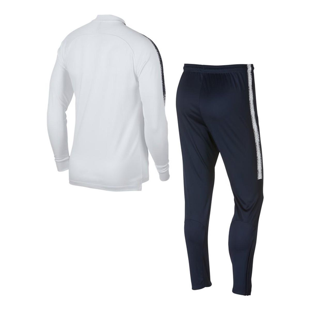 sale retailer b9c70 aa577 Survêtement Nike France Dry Squad 2018-2019 White-Obsidian - Boutique de  football Fútbol Emotion