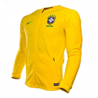 Jacket  Nike Brazil Pre-Match 2018-2019 Midwest gold-Varsity maize-Lucky green