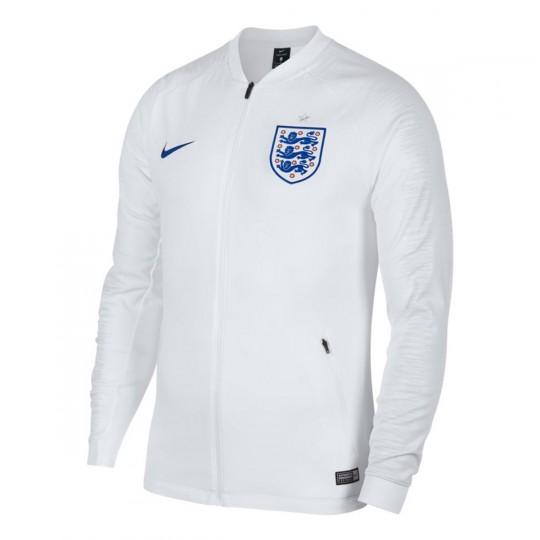 0b1587dfda3 Chaqueta Inglaterra Pre-Match 2018-2019 White-Off white-Sport royal ...