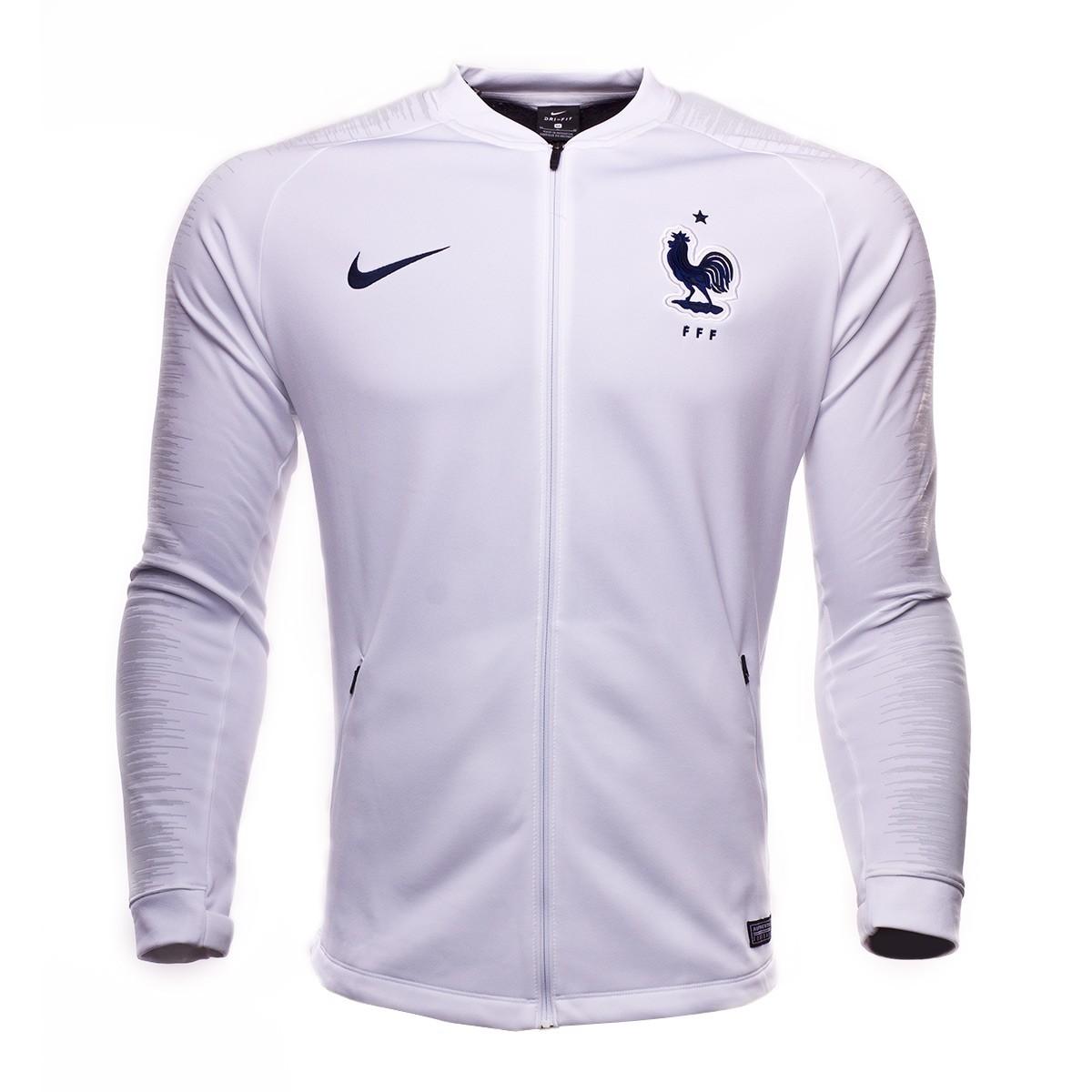 093fbd0ae Jacket Nike France Pre-Match 2018-2019 White-Pure platinum-Obsidian -  Football store Fútbol Emotion