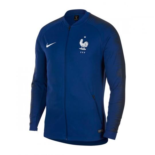a5b254018b2 Chaqueta Francia Pre-Match 2018-2019 Deep royal blue-Obsidian-White ...