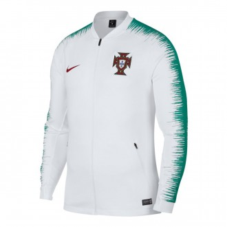 Casaco  Nike Portugal Pre-Match 2018-2019 White-Kinetic green-Gym red
