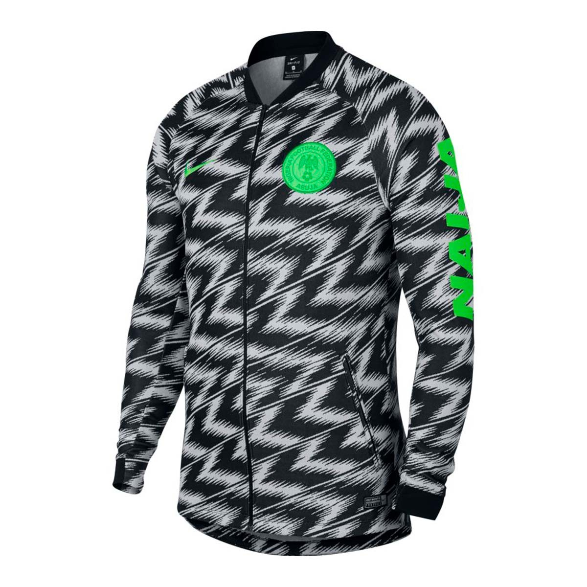4946a812193 Jacket Nike Nigeria Pre-Match 2018-2019 White-Gren strike - Tienda ...