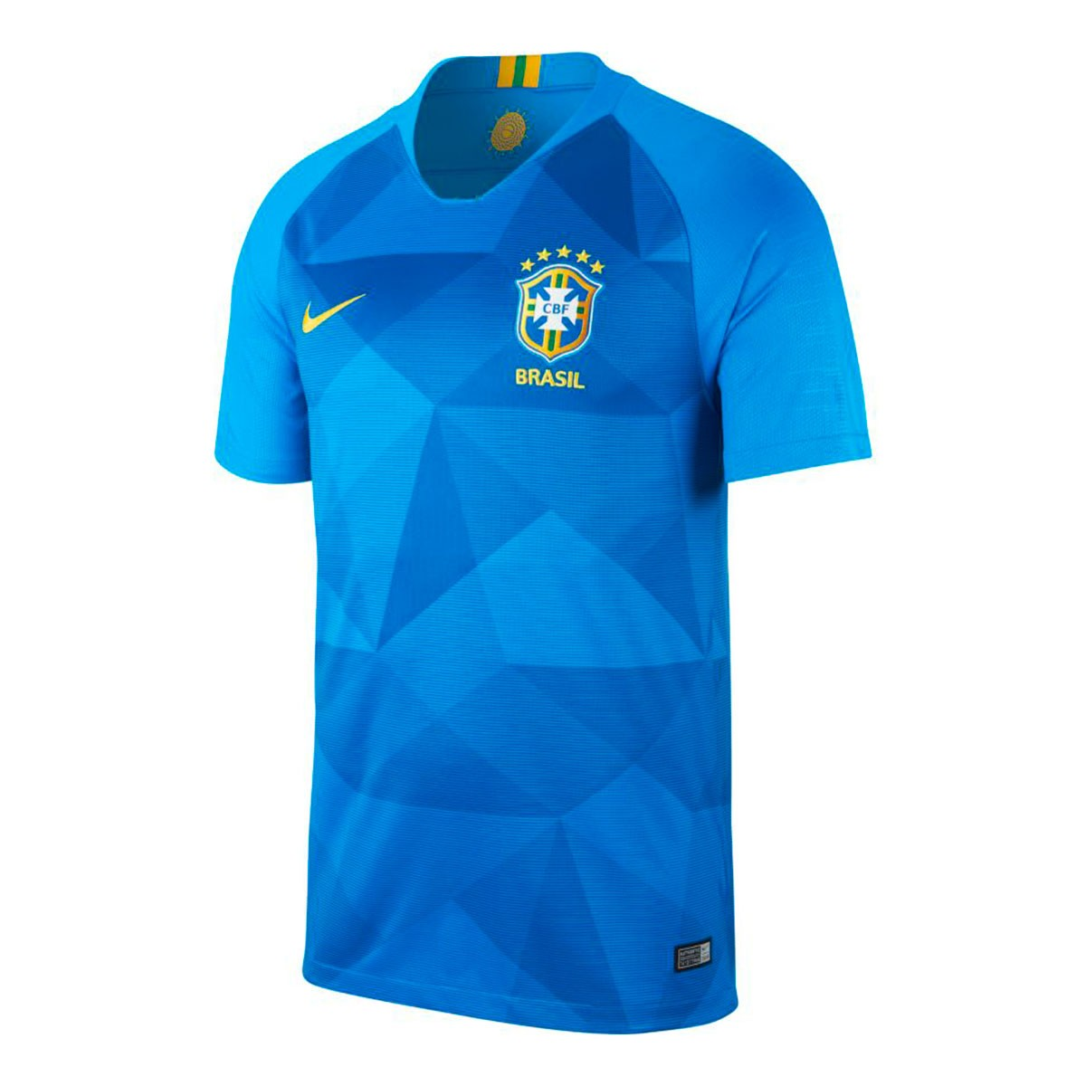 Jersey Nike Brazil Breathe Stadium 2018-2019 Away Soar-Midwest gold ... ce31d49096561