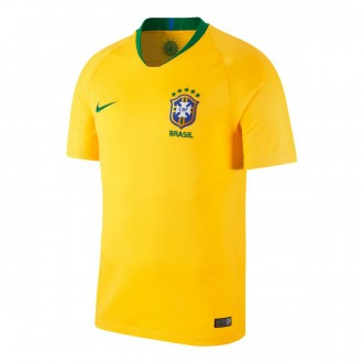 Maillot  Nike Brésil Breathe Stadium Tenue Domicile 2018-2019 Midwest gold-Lucky green