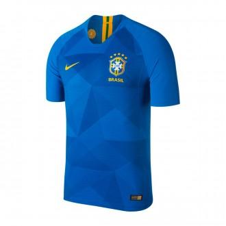 Camiseta  Nike Brasil Vapor Segunda Equipación 2018-2019 Soar-Midwest gold
