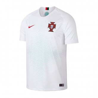 Camisola Nike Portugal Breathe Stadium Equipamento Secundário 2018-2019  White-Gym red 864c44ac4e812